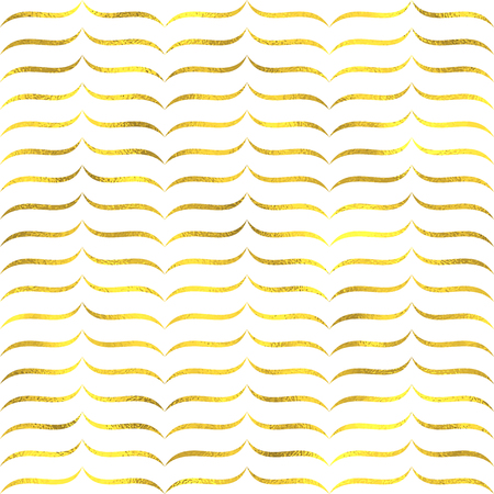 christmas tide: Gold glittering foil seamless pattern background with zig zag