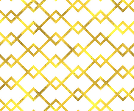 foil: Gold vintage foil geometric seamless pattern background Illustration