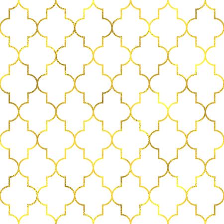 Gold vintage foil ornamental arabic seamless pattern background 일러스트