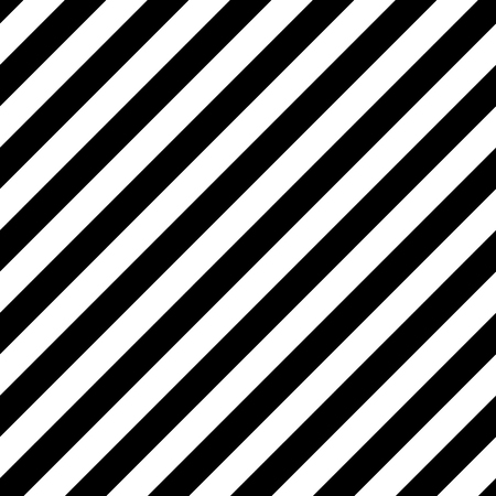 Vector Diagonal Striped Seamless Pattern. Black and white background Stock Illustratie
