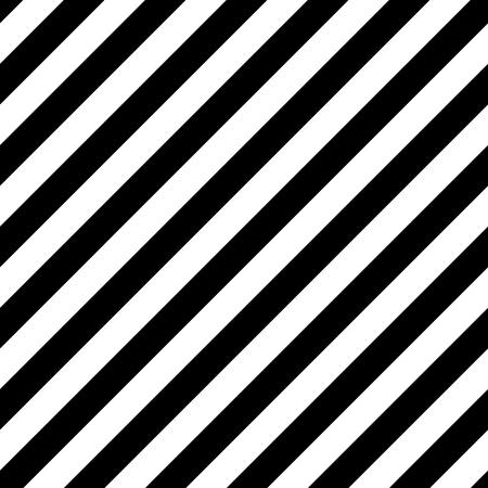 horizontální: Vektor úhlopříčky pruhované bezešvé vzor. Černé a bílé pozadí