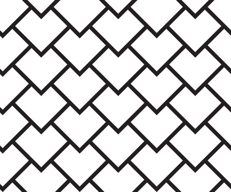 Motif géométrique sans soudure. Fond rétro noir et blanc de vecteur