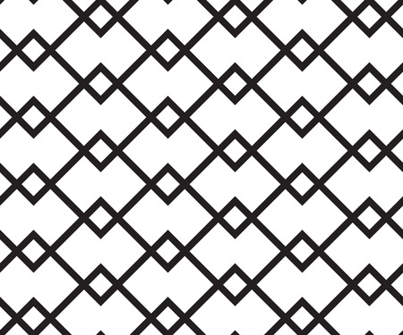 Geometric seamless pattern. Vector retro black and white background Illustration