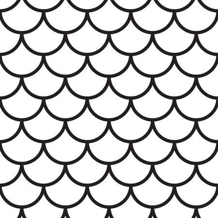 vintage wave: Japanese Wave Seamless Pattern, vector black and white background
