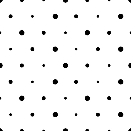 circles pattern: Vector seamless pattern. Abstract background with circles. Black and white polka dot ornament Illustration