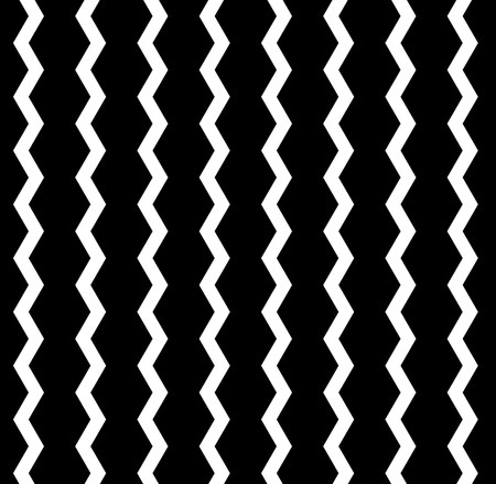 zag: Vector zig zag seamless pattern. Black and white background Illustration