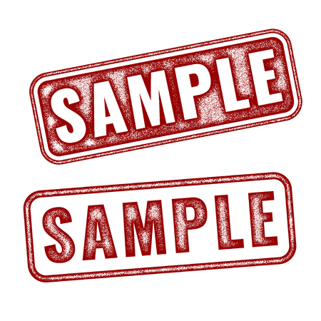probation: Two realistic vector Sample grunge rubber stamps isolated on white background