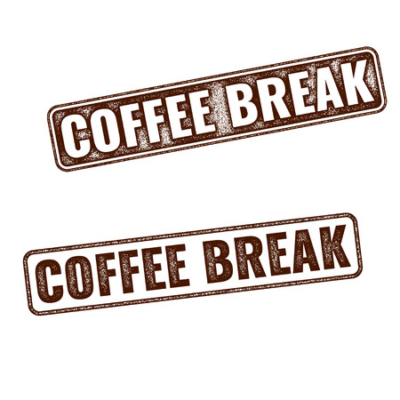 coffee break: Realistic Coffee Break grunge rubber stamp isolated on white background