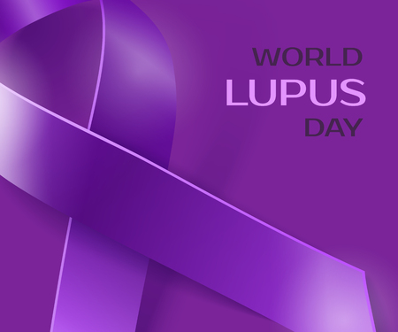 lupus: Purple Lupus awareness ribbon background. World lupus day background