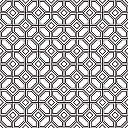 parquetry: Seamless parquetry vector monochrome pattern background