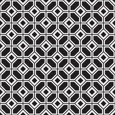 black floor: Seamless parquetry vector monochrome pattern background
