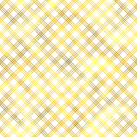 Vector seamless geometric textured golden pattern background Illustration