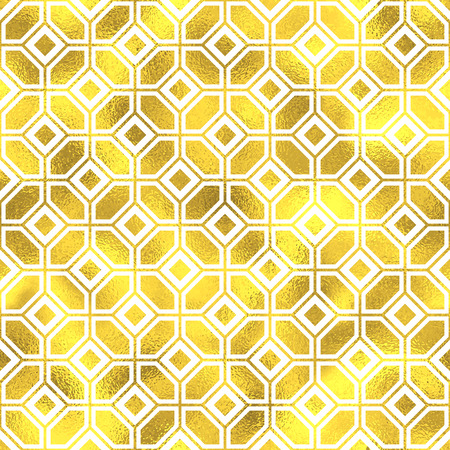 gold ornament: Vector seamless geometric textured golden pattern background Illustration