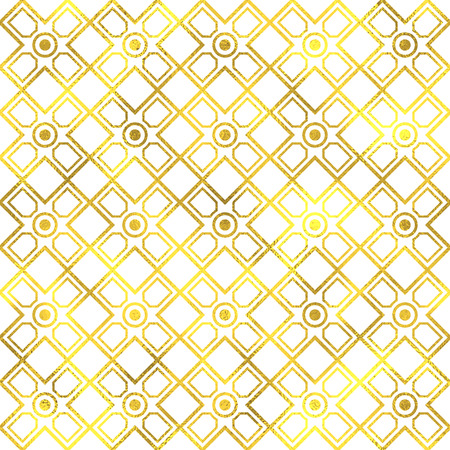 goldy: Vector seamless geometric textured golden pattern background Illustration