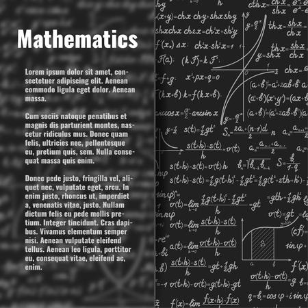 teorema: Resumen de vectores de fondo matemáticas detrás de la bandera de cristal mate. telón de fondo científica con fórmulas, figuras, con copia espacio a bordo de vidrio sobre sedosa Vectores