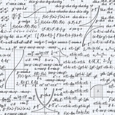 teorema: vector matem�tica fondo sin patr�n, con f�rmulas, ecuaciones y figuras, escritos a mano en un cuaderno Vectores