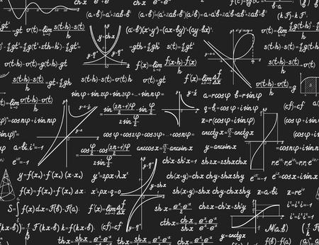 teorema: Matemáticas vector sin patrón con diferentes signos, figuras y fórmulas. Volver a la escuela sin fisuras antecedentes científicos