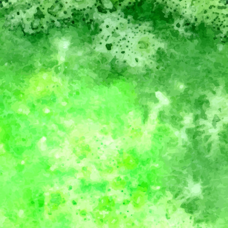wet leaf: Green watercolor hand drawn background for you eco design. Vector abstract watercolour paper grain textured background.