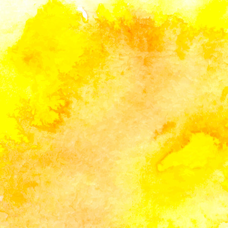 watercolour background: Vector background with watercolor splash. Yellow watercolour card