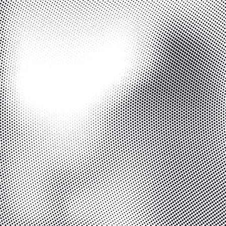 A Vector abstract dotted halftone template background. Pop art dotted gradient design element. Grunge halftone textured pattern with dots.