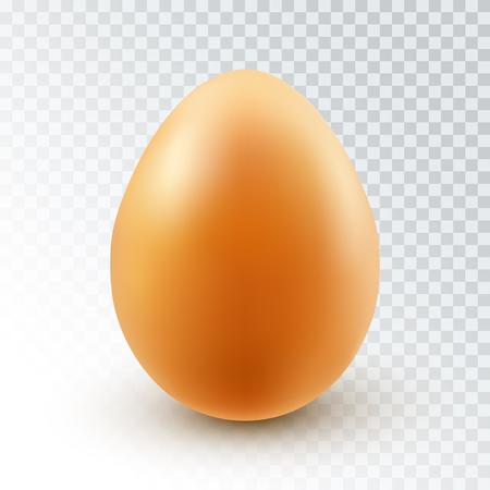 Wektor realistyczne brązowy jajko kurze z cieniem na przezroczystym tle. Ilustracje wektorowe