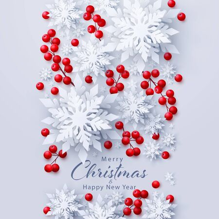 Vector Merry Christmas and New Year background Ilustrace
