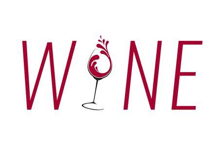 Glass of Wine with splash design Illustration