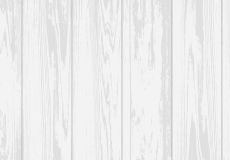 Vector white wood textured background. Realistic wooden texture, hardwood planks
