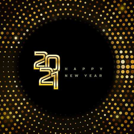 Christmas and Happy New Year 2021 Illusztráció