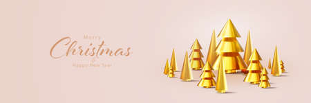 Merry Christmas and Happy New Year background. Vetores
