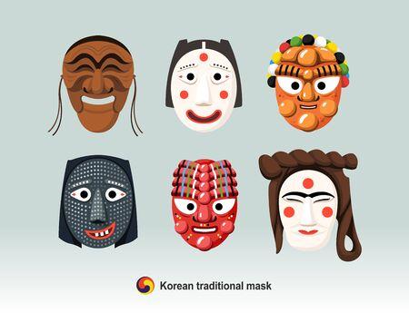 Beautiful Korean Traditional Mask (Andong Hahoe Mask)