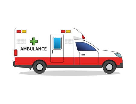 Ambulance vector illustration on white background