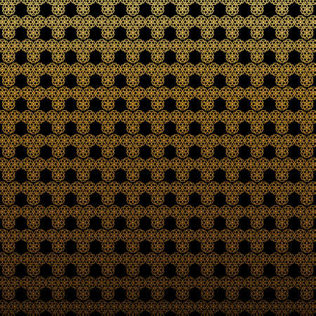 Abstract Geometric Glamour Black And Gold Pattern Illustration