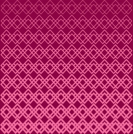 Abstract Geometric Pattern Lines. Halftone Square Variation A Seamless Vector Background. Feminine Color