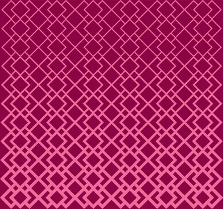 Abstract Geometric Pattern Lines. Halftone Square Ring A Seamless Vector Background. Feminine Colo