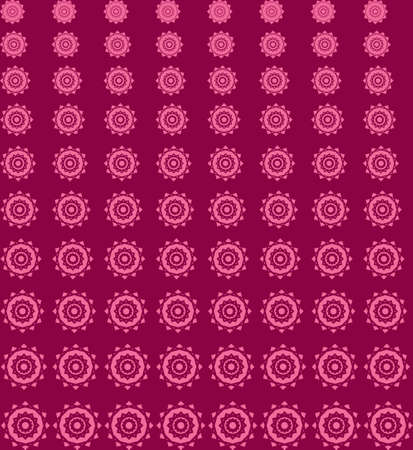 Abstract Geometric Square Sun Seamless Pattern Feminine Color