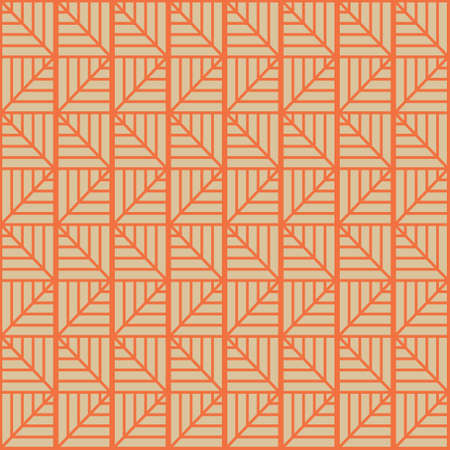 Triangle Bones Waves A Seamless Pattern. Retro Color