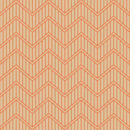 Triangle Zigzag Waves A Seamless Pattern. Retro Color