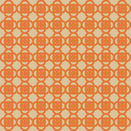 Circle Waves Rotation A Seamless Pattern. Retro Color