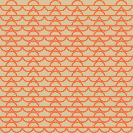 Half Circle Waves A Seamless Pattern. Retro Color