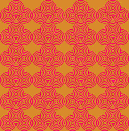 Circle Waves A Seamless Pattern. Retro Color