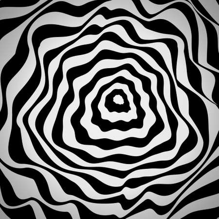 Abstract Reaction Waves Optical. Monochrome Color Background