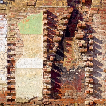 a brick wall in need of repair Stock Photo - 20619828