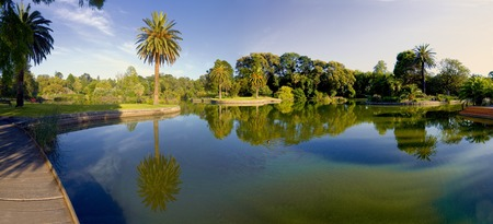 beautiful park on a summer day in melbourne photo