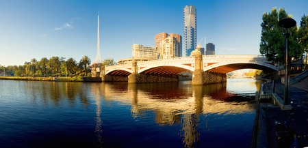 princess bridge over the yarra river in melbourne Stock Photo