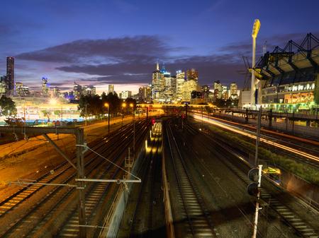 railway transportation: melbourne Stock Photo