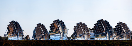 parabolic mirror: experimental solar electricity generation farm in inglewood rural victoria australia