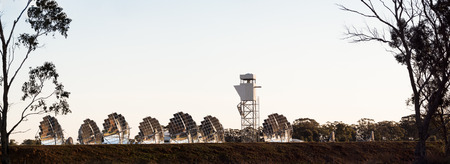 experimental solar electricity generation farm in inglewood rural victoria australia