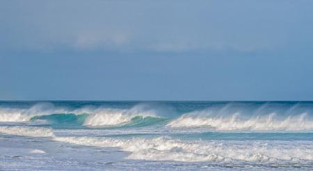 Rough sea along the great ocean road in Victoria Australia