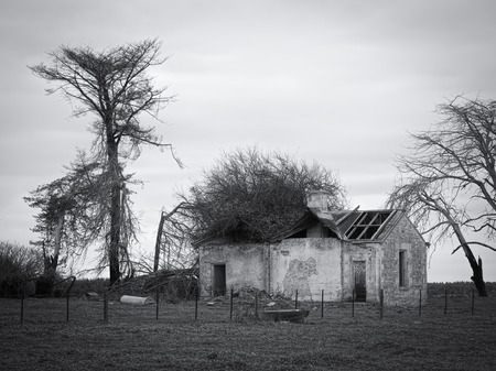 old abandoned farmhouse in Dartmoor, country Victoria australia